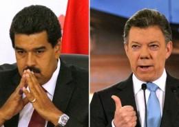 Nicolas Maduro y Juan Manuel Santos