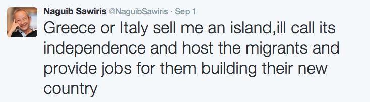 Tuit de Naguib Sawiris