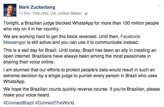 via Mark Zuckerberg (Facebook)