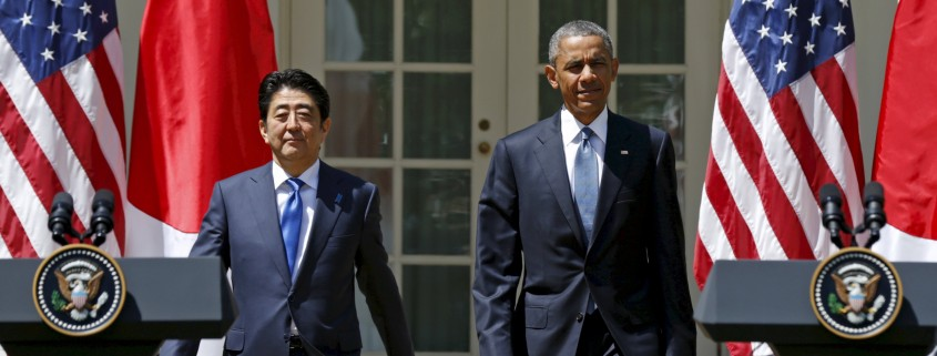 U.S. President Barack Obama and Japanese Prime Minister Shinzo Abe