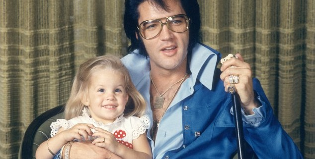 December 1969, Beverly Hills, California, USA --- American rock legend Elvis Presley with His Daughter Lisa-Marie. --- Image by © Frank Carroll/Sygma/Corbis