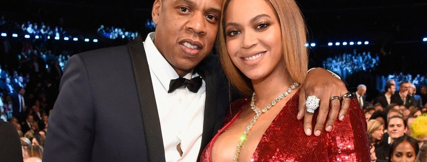 LOS ANGELES, CA - FEBRUARY 12:  Jay Z and Beyonce during The 59th GRAMMY Awards at STAPLES Center on February 12, 2017 in Los Angeles, California.  (Photo by Kevin Mazur/Getty Images for NARAS)